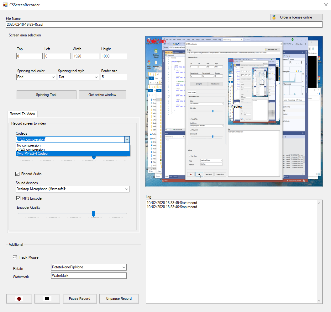 CSScreenRecorder full screenshot